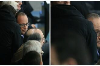 Momentul in care Francois Hollande este informat despre atentatele din Paris. Galerie foto cu reactia presedintelui francez