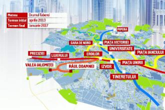 Metroul din Drumul Taberei, gata cel mai devreme in 2017, cu o intarziere de