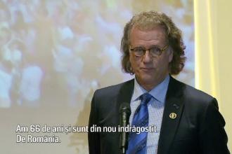 Andre Rieu a devenit ambasador onorific al Bucurestiului. Gestul pe care il face pentru tinerii raniti in Clubul Colectiv