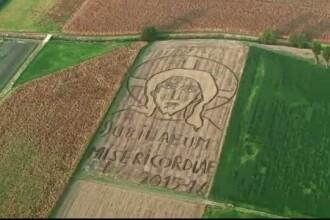 Talentul inedit al unui italian. A desenat cu un plug imaginea lui Iisus pe o suprafata de 24.000 de metri patrati