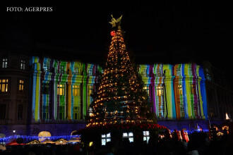 Iluminatul festiv al Capitalei, aprins vineri seară: 9 milioane de beculeţe şi elemente decorative unicat