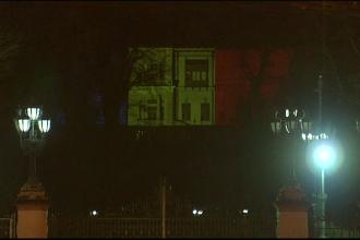 Palatul Cotroceni, luminat in culorile tricolorului. Klaus Iohannis a respins organizarea unei petreceri de 1 Decembrie