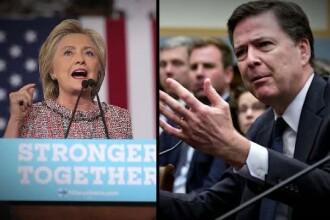 Directorul FBI, atacat din mai toate directiile pentru ca a decis redeschiderea investigatiei privind emailurile lui Clinton