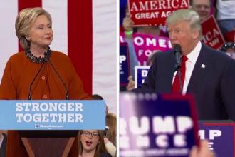 Cursa stransa pentru Hillary Clinton si Donald Trump in statele indecise. Barack Obama: