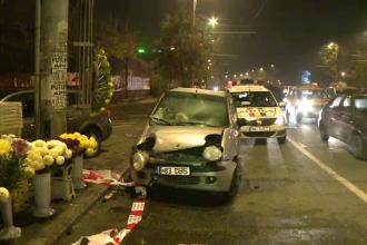 Accident vineri noapte pe Soseaua Colentina din Capitala. O florarie a fost distrusa si 2 barbati au avut nevoie de ingrijiri
