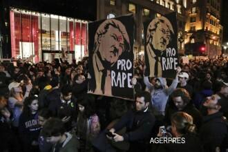 Val de proteste in SUA dupa victoria lui Donald Trump.