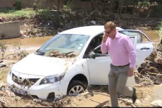 Haos in Johannesburg, din cauza inundatiilor masive. Masini luate pe sus de ape si mai multe persoane disparute