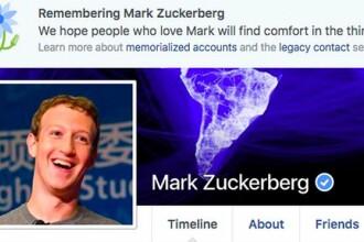 Facebook a anuntat din greseala decesul lui Mark Zuckerberg. Mesajul aparut pe pagina fondatorului companiei