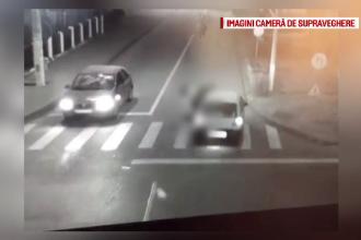 Accident filmat, in Dambovita. Tanara de 18 ani spulberata pe trecerea de pietoni de o soferita care circula cu viteza