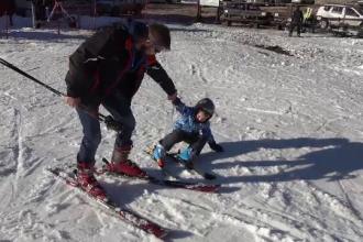 Partia de schi de la Cavnic, deschisa mai repede anul acesta. Zapada