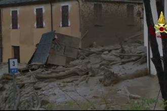 Filmare cu drona. Pagubele de 100 de milioane de euro lasate in urma de ploile abundente din Italia