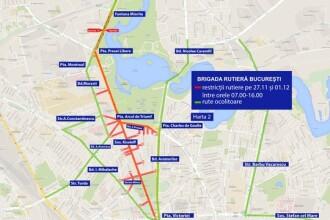 Circulatie restrictionata in Capitala pentru parada de Ziua Nationala. Cum puteti sa ajungeti mai usor la eveniment. HARTA