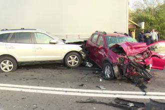 Femeie în stare gravă la spital, după ce mașina ei a fost izbită de un polițist de frontieră