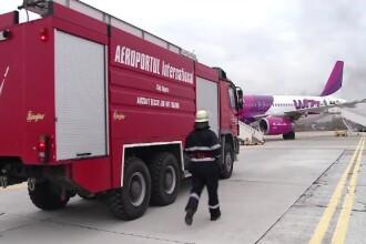 Simulare a unui accident aerian grav, pe Aeroportul din Cluj