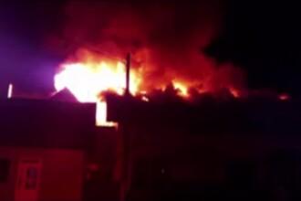 Un magazin și un restaurant dintr-o localitate suceveană, distruse de flăcări