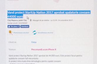 Afacerile Start-up Nation, scoase la vânzare pe mii de euro. Avertismentul autorităților