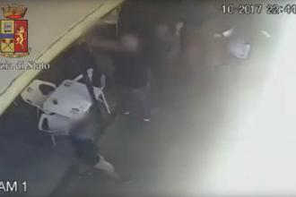 Bătaie între 2 bande de români, într-un bar din Torino. VIDEO