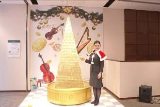 Pom de Crăciun din aur, în valoare de 3 milioane de dolari