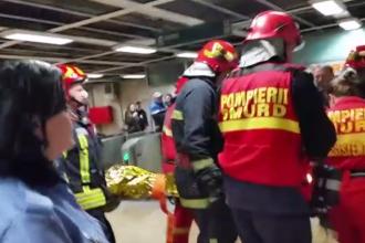 Tentativă de sinucidere la stația de metrou Piața Unirii. Un bărbat a fost rănit