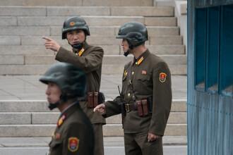 Un soldat nord coreean a dezertat în Coreea de Sud. Armata de la Phenian a tras asupra sa