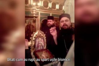 Scandal uriaş, cu jandarmi şi enoriaşi, într-o biserică din Botoşani