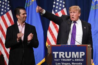 Reclamele din Times Square care l-au enervat pe Trump Jr. În ce ipostaze apare tatăl său