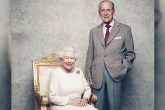 Regina Elisabeta a II-a şi soţul ei, în imagini inedite la cea de-a 70-a aniversare a căsătoriei cuplului regal