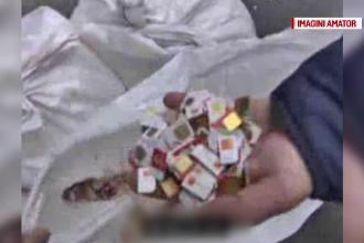 Cinci saci plini cu milioane de cartele SIM, găsiţi pe o stradă din Capitală
