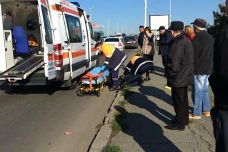 Accident în Constanța: 3 răniți. Una dintre victime, transportată cu un elicopter SMURD