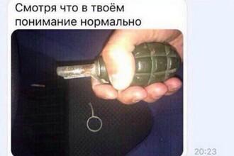 Un rus a trimis prietenilor săi poze selfie cu o grenadă fără cuiul de siguranță. Ce s-a întâmplat cu el