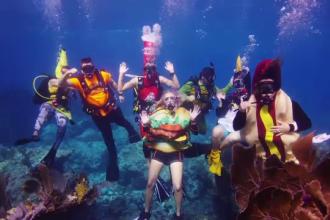 Paradă subacvatică a costumelor de Halloween, în Florida