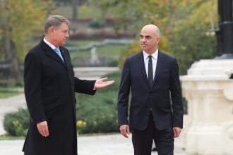 Klaus Iohannis l-a primit la Cotroceni pe președintele Elveției, Alain Berset