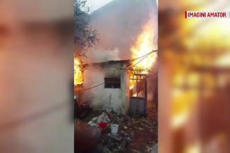 Incendiu în Botoșani provocat de o lumânare. Pericol uriaș de explozie din cauza unei butelii