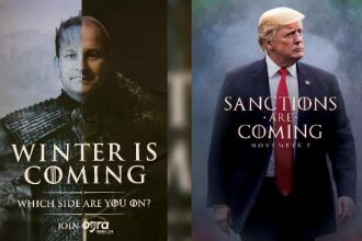 Donald Trump și generalii iranieni se amenință folosind replici din Game of Thrones