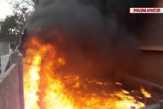 O gospodărie din Mangalia, distrusă din cauza flăcărilor. Ce a produs incendiul
