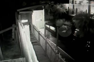 Un bărbat a sărit într-un iaz plin de crocodili. Imaginile surprinse de camerele de supraveghere