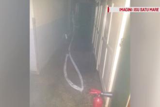 Un incendiu puternic a cuprins subsolul Spitalului Judeţean din Satu Mare