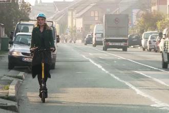 """Românii dau mașinile pe scutere și trotinete electrice: """"Am făcut 17 km în 14 minute"""""""