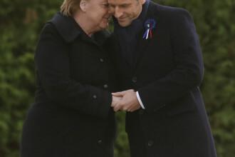 Merkel și Macron s-au ținut de mână. Gestul simbolic făcut în premieră de cei doi lideri