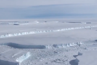 NASA a publicat imagini cu un iceberg imens. Are o suprafață de 3 ori mai mare decât Manhattan. VIDEO
