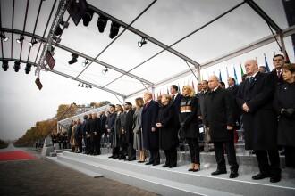 Ziua Armistiţiului. Iohannis și alți lideri ai lumii au participat, la Paris, la ceremonii militare