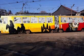Tramvaie decorate cu elemente culturale din Grecia, Spania, Suedia şi România, pe liniile 1 şi 10