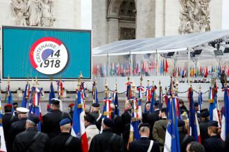Mesajele transmise de marii lideri ai lumii de Ziua Armistițiului, la Paris