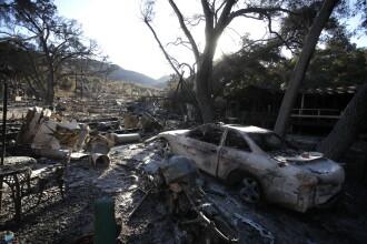 Imaginile dezastrului din California. 42 de oameni au murit, un oraș a fost distrus aproape complet de foc