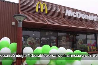 (P) Focşani zâmbeşte: McDonald's a deschis primul restaurant din oraş