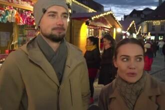 Reacţia unor turişti străini ajunşi prima dată la târgul de Crăciun din Sibiu