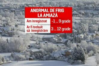 Primele efecte ale valului de aer polar: ninsori și temperaturi mai mici cu 10 grade. Situația se va înrăutăți