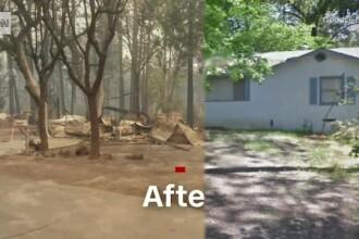74 de morți si 1.000 de dispăruți după incendiul din California. Imagini înainte și după tragedie