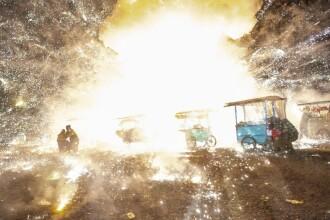 """""""Ploaie de foc"""" la un festival. Mai mulți răniți în urma bizarului fenomen. VIDEO"""