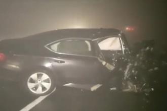 Accident grav pe DN1. O adolescentă a murit după ce două mașini s-au lovit frontal. VIDEO